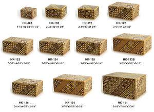 Japanese-Wooden-Yosegi-Himitsu-Samurai-Magic-Secret-Step-Trick-Box-Made-in-Japan