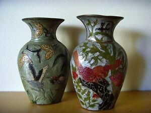 Used-Lot-Two-Vases-Chinese-Cloisonne-Used