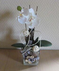 fr hling fr hjahr tischdeko floristik tischgesteck creme gr n orchidee w rfel ebay. Black Bedroom Furniture Sets. Home Design Ideas