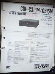 Anleitungen & Schaltbilder Service-manual Für Sony Cdp-c312m Cd-player Original!