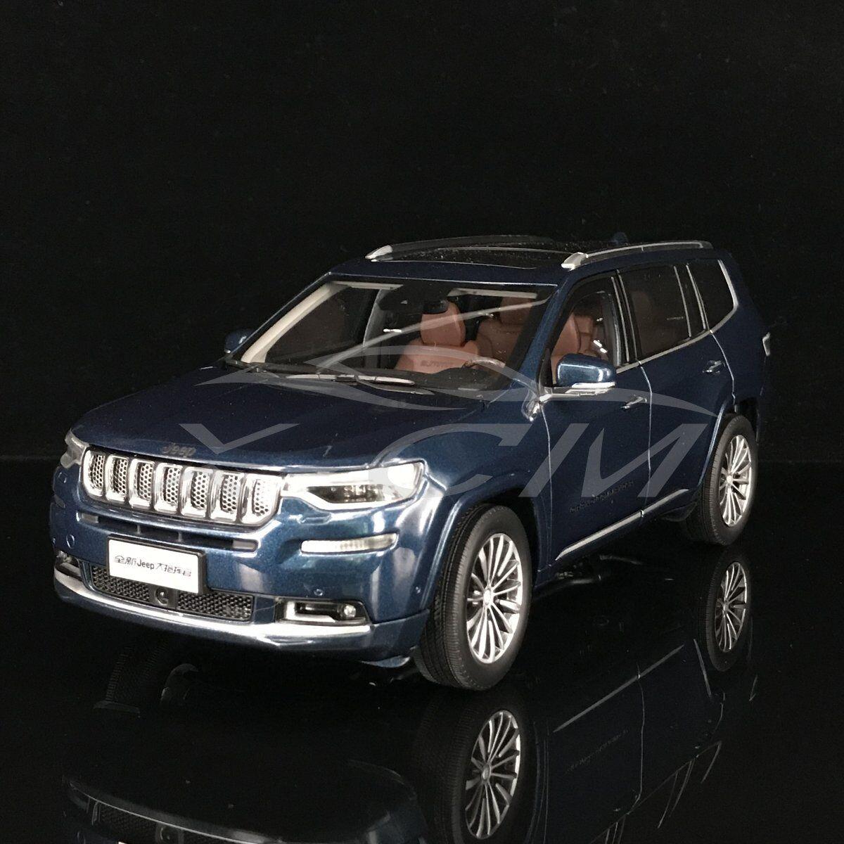 Modello AUTO DIECAST tutti i nuovi JEEP GRAND COMMANDER 1:18  blu  + REGALO