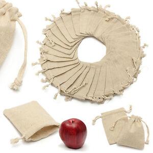 PETIT-jute-lin-naturel-Sac-BIJOUTERIE-Pochette-Marriage-sacs-cadeaux-Drawstring