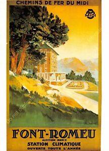 CP Poster Tourism Chemins Iron Font Romeu Edit Nugeron R82