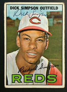 Dick Simpson Reds signed 1967 Topps baseball card #6 Auto Autograph 1