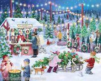 Christmas Tree Farm 1000 Piece Jigsaw Puzzles Christmas Jigsaw Puzzles Snowy