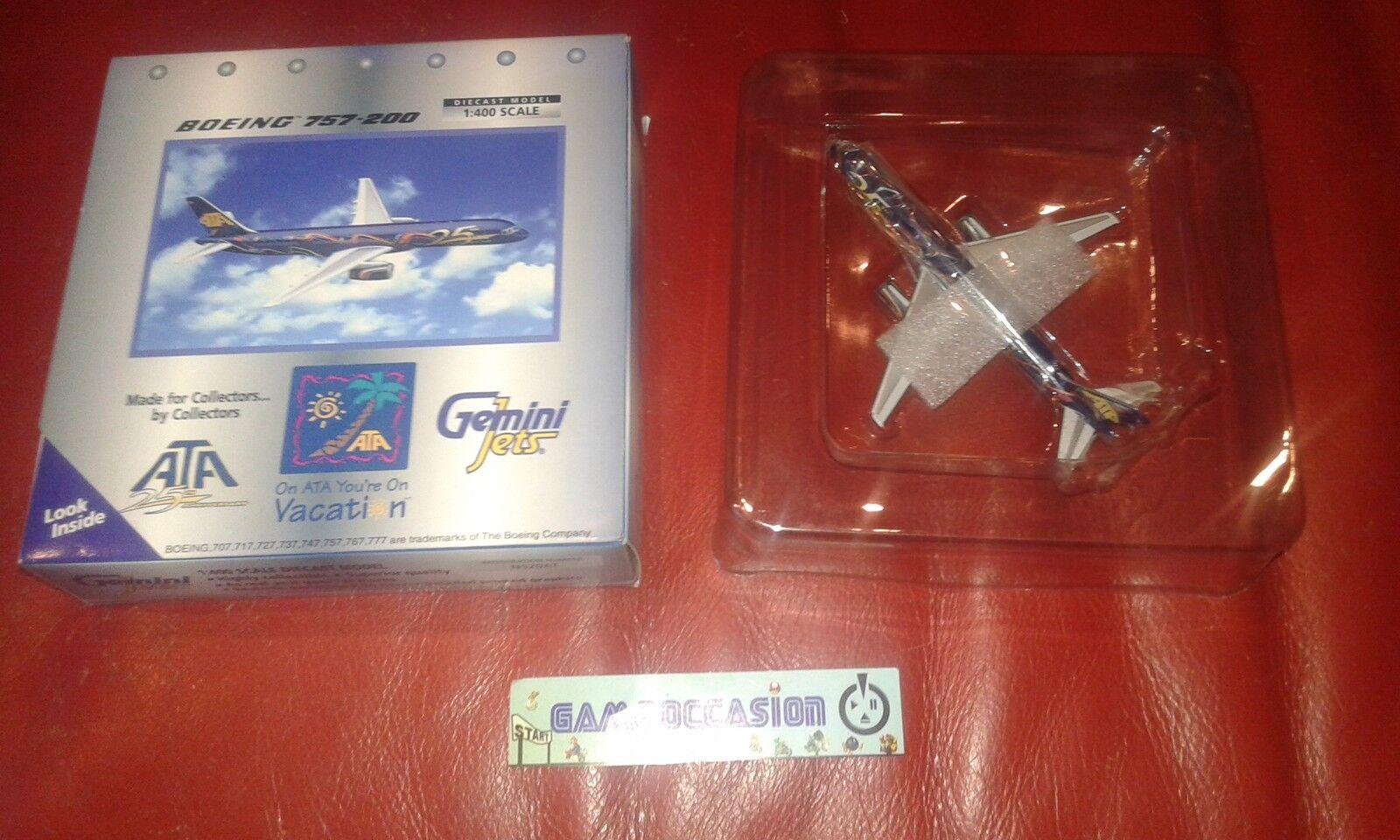 Flugzeug Boeing 747-200 Gemini Jets Ata 25th Anniversary 1 400 Metall