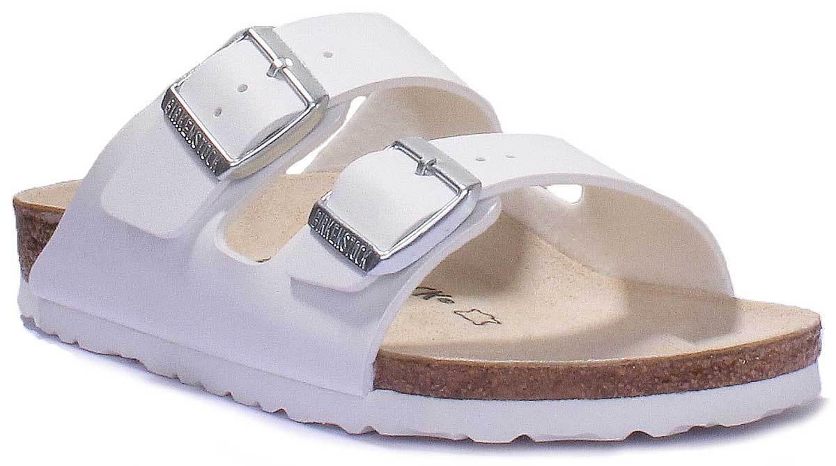 Birkenstock Brizona Women White Faux Leather Sandals