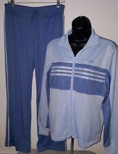 Adidas NWT Woman's Light Blue/Atlan Blue Tracksuit Warm Up Suit Size M