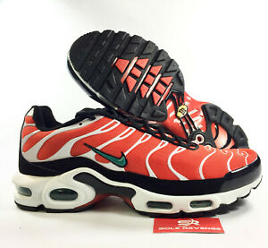 04115a60c9a3 New NIKE AIR MAX PLUS TN 52630801 Orange Green White Black Shoes ...