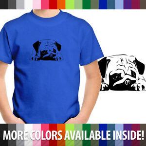 Big-Pug-Dog-Cute-Unisex-Kids-Top-Tee-Youth-T-Shirt-Cotton-Boy-Girl-shirt