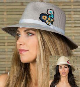 31347e0fca5 Women s summer vacation travel wide brim Gambler Fedora Cowboy hats ...