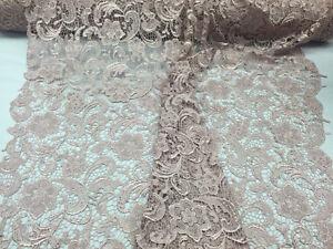 Metatron design guipure mesh lace fabric bridal wedding blush.per yard