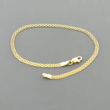 10K YELLOW GOLD 2.5MM WIDE  3 ROW 7.5 INCH BISMARK BRACELET FREE SHIPPING