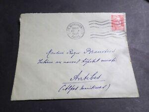 FRANCE CACHET 1949, SEUL LETTRE timbre 812, GANDON, oblitéré VF COVER, LOT D