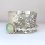 Opal-Gemstone-Solid-925-Sterling-Silver-Spinner-meditation-Statement-Ring-Size-P thumbnail 1
