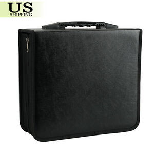 400-Disc-CD-DVD-Organizer-Holder-Storage-Case-Bag-Wallet-Album-Media-Video-Black