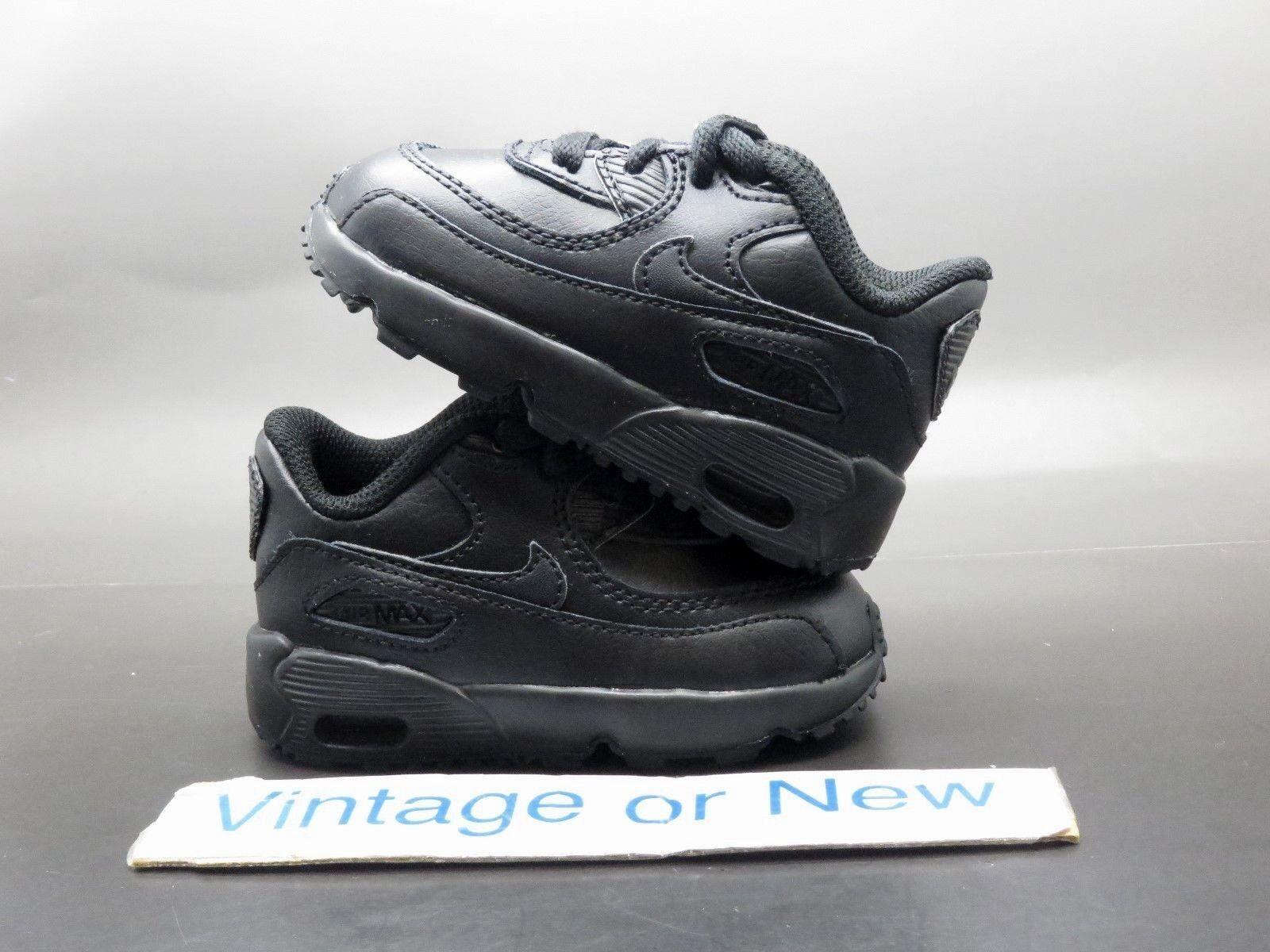 Nike Air Max 90 Triple Black 2016 futócipő kisgyermek 833416-001 sz 4C