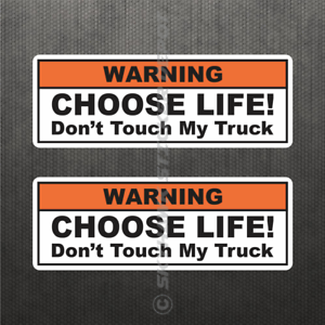 Warning Funny Vinyl Decal Bumper Sticker Don/'t Touch My Truck Diesel fits Dodge