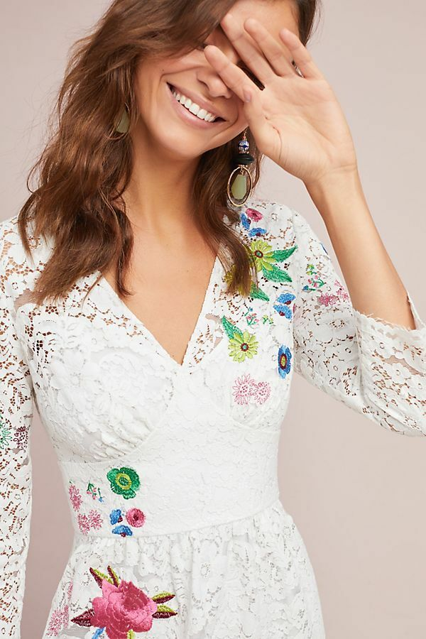 NWT ANTHROPOLOGIE TRACY REESE REESE REESE ADALINE LACE DRESS- SIZE 10 0a796f