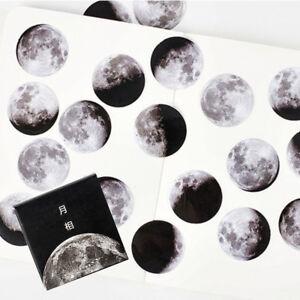45Pcs//set Creative Moon Mini Paper Sticker Diary Scrapbooking Label Sticker