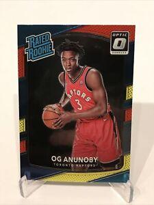 2017-18 Panini Donruss Optic Basketball OG Anunoby Red Yellow Rated Rookie RC
