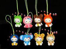 Bandai Hello kitty figure Cosplay animal strap Gashapon (full set of 8 figures)