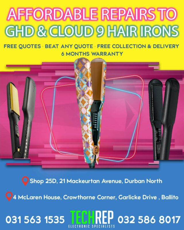 SALES & PROFESSIONAL REPAIRS TO GHD / CLOUD 9 / VEAUDRY / MOYOKO / PARLUX