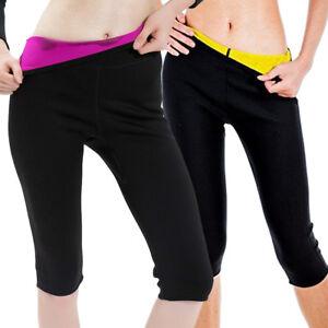 2a244e41d9 Women Sweat Slimming Body Shaper Hot Neoprene Shorts Waist Sauna