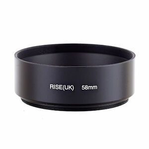 58mm Standard Metal Screw-in Lens Hood For Canon Nikon Sony Olympus Camera