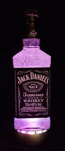 Jack-Daniels-botellas-lampara-con-LED-descansillo-Frost-Upcycling-regalo-idea