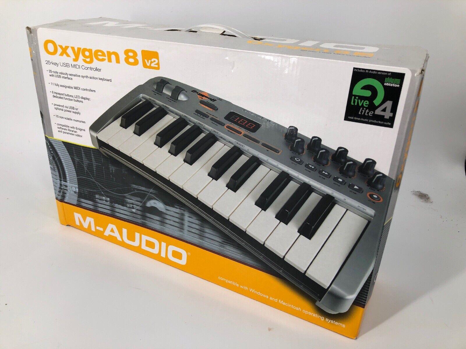 M-AUDIO OXYGEN 8 V2 KEYBOARD 25-KEY USB MIDI CONTROLLER in Box