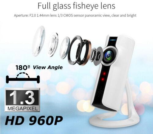 180 Degree WiFi Fisheye IP Camera Baby Monitor Home Security Camera 2-Way Audio