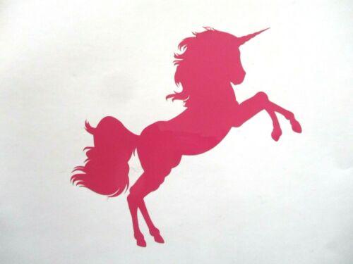 II   Aufkleber in Pink sehr Detaillierte Ausführung 10 x 12cm Neu Einhorn No