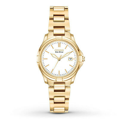 Citizen Eco-Drive Women's EW1962-53A Silhouette Gold Tone Bracelet 28mm Watch