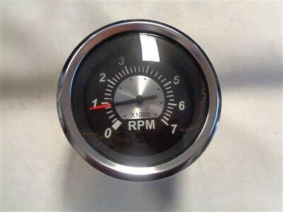 Black Face 85mm auto gauge 0-6000 rpm Diesel Tachometer for marine yacht