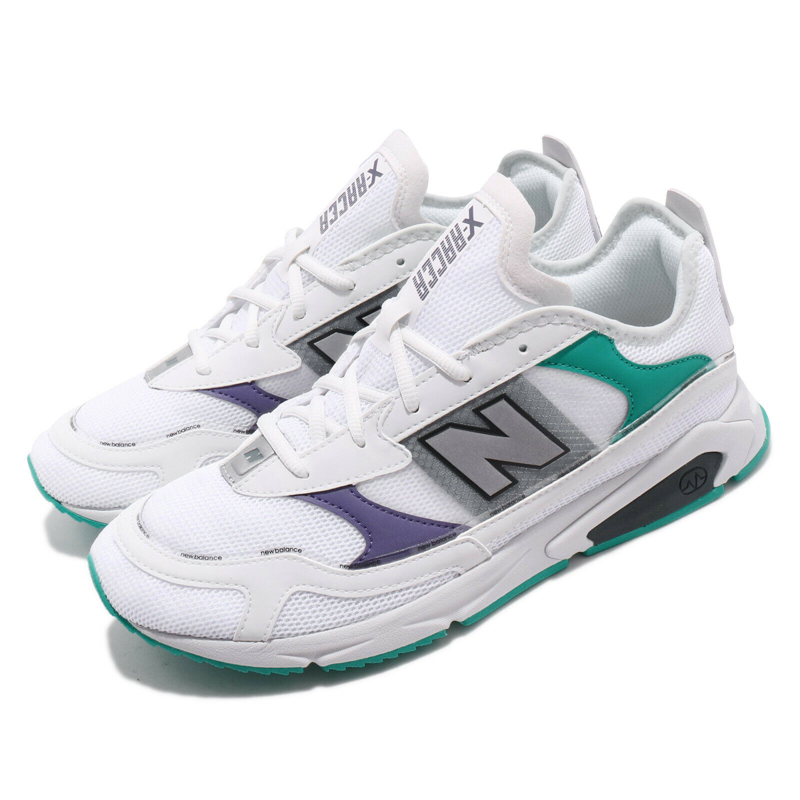 New equilibrar X Racer blanco plata verde verde verde