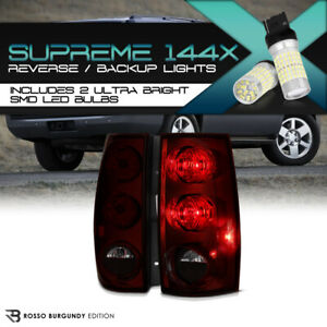 07-14 CHEVY//GMC SUBURBAN//TAHOE//YUKON TAIL LIGHTS REAR LAMPS BLACK 1500 2500 SLT