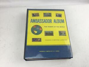 Ambassador-Album-for-Stamps-of-the-World-2320-Stamps-Included-H-E-Harris