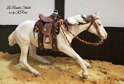 Breyer custom tan leather bridles