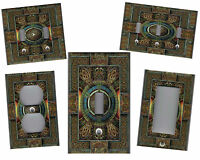 Celtic Knot Medallion Tile Print Home Wall Decor Light Switch Plate
