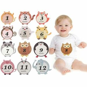 12pcs/set Monthly Stickers Newborn Photo Props Boy Girl Shower Birthday Party