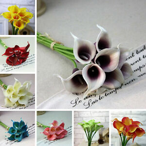 Image Is Loading Calla Lilly Fake Silk Plastic Artificial Flower Flowers