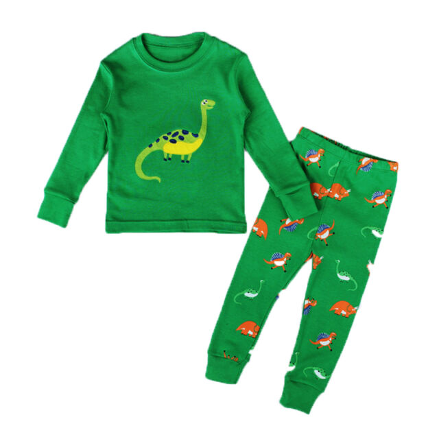 Kids Baby Boys Girls Dinosaur Pyjamas Set Nightwear Sleepwear Homewear Outfit