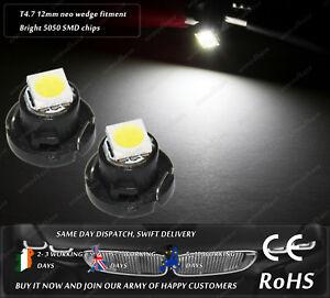 LED-SMD-T4-7-12mm-Neo-Wedge-White-Dash-Cluster-Speedo-Panel-Interior-Bulbs-Light
