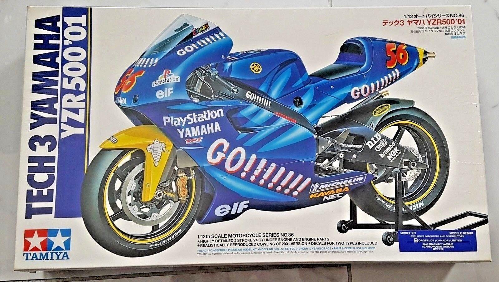 TAMIYA 1 12 TECH3 YAMAHA YZR500 '01 MotoGP JACQUE NAKANO MOTORCYCLE KIT 14086 FS