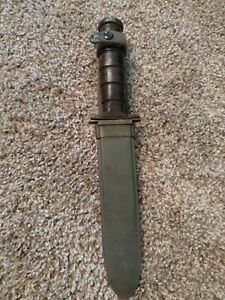 WWII-USN-KABAR-KA-BAR-MK2-Mark-II-Knife-95-or-Better-Parkerizing-100-Original