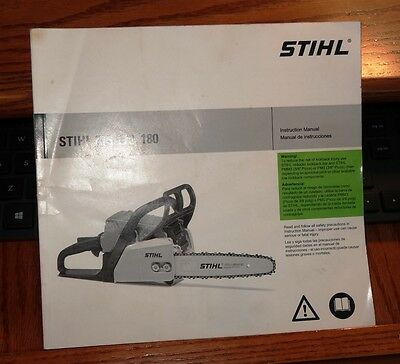 STIHL MS 170, 180 Instruction Manual Chainsaw - Vintage JB