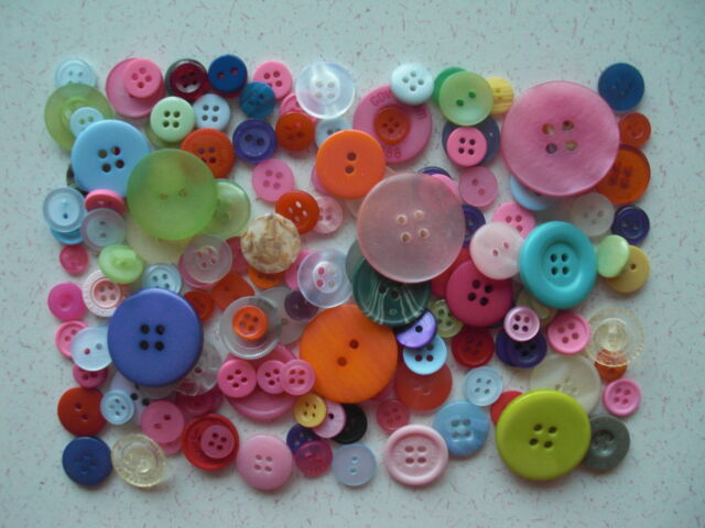 Mixed buttons mixed sizes & colours 50 grams approx 60 free 1st class P&P