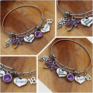 Image Is Loading Personalised BIRTHDAY Gifts Bracelet 18th 21st 30th 40th