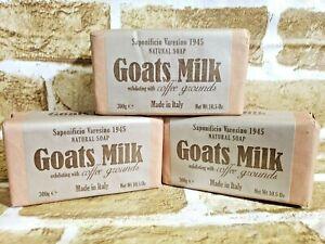 3-Saponificio-Varesino-Goats-Milk-w-Coffee-Grounds-Bar-Soap-10-5-oz-New